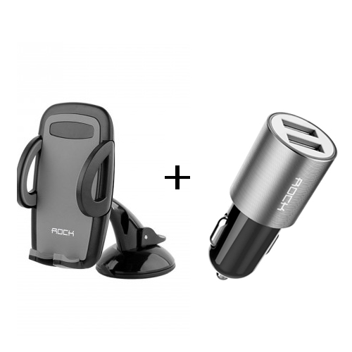 BUNDLE Offer ROCK 2 USB Car Charger + RO...