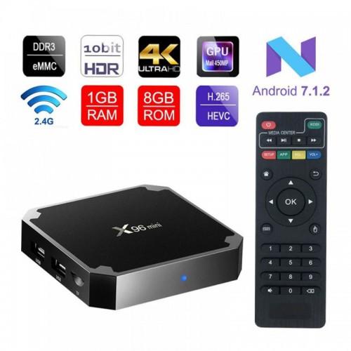 X96 Mini Android 7.0 Amlogic S905W Quad Core Suppot 2.4GHz WiFi 1GB RAM & 8GB HDD TV Box