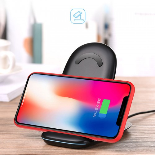 HOCO 2 in 1 Fast Wireless Charging  Dock Station Qi Wireless Charger 10W