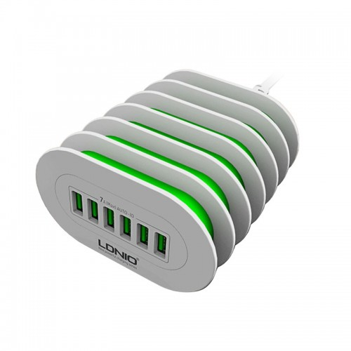 LDNIO 6 USB Ports Charging Station For All Smart Phones & Tablets