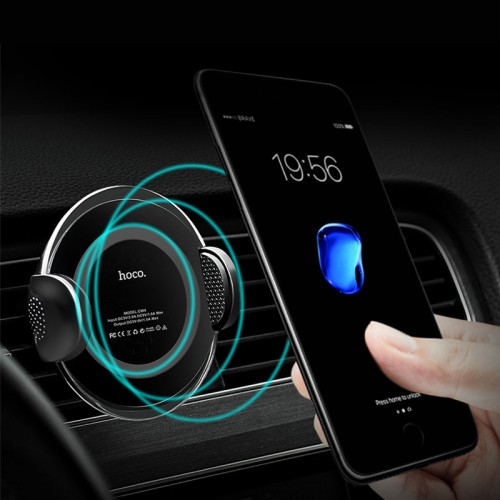 HOCO CW4 Car Qi Wireless Charger for iPhone 8 / 8 Plus / X , Note 8 , S8 , Note 5