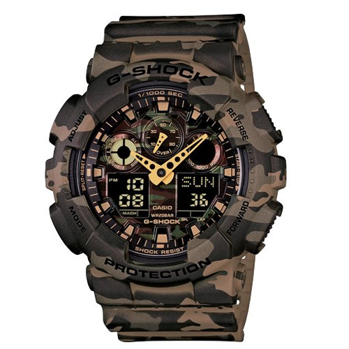 Casio G-Shock Analog-Digital Green Dial ...