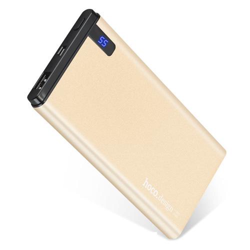 HOCO B25 Slim 10000 mAh Power Bank - Gold