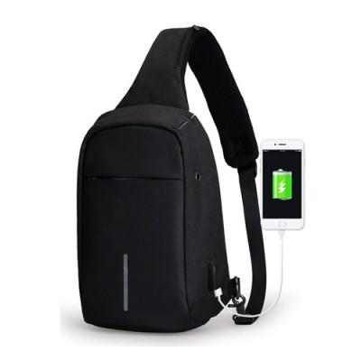 Shoulder Sling Side Bag For for Travel and Camping - Black