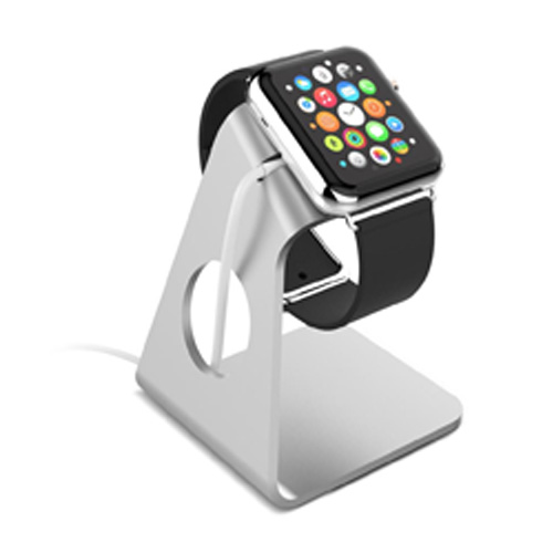 Aluminum Minimal and Sleek Design Apple Watch Stand - Silver