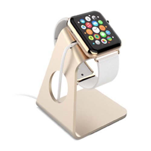 Aluminum Minimal and Sleek Design Apple Watch Stand - Gold