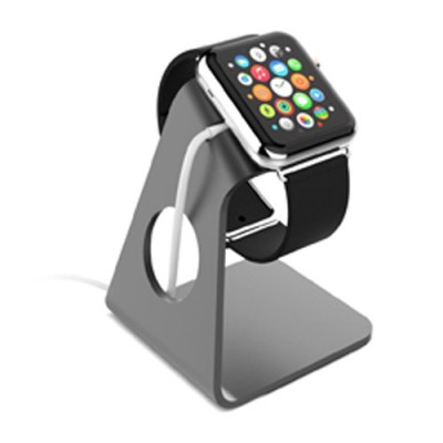 Aluminum Minimal and Sleek Design Apple Watch Stand - Gray