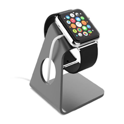 Aluminum Minimal and Sleek Design Apple Watch Stand - Gray