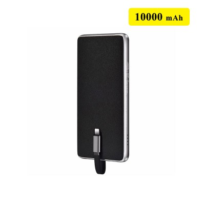 HOCO J1 10000 mAh  Portable Slim Power Bank - Black
