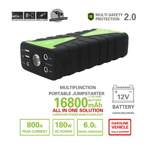 16800 mAh 12V Portable Car Jump Starter