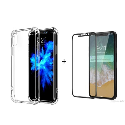 G-Case Bundle Offer TPU Case + Tempered Glass For iPhone X
