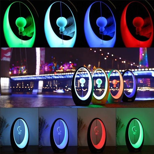 Led Magnetic Levitation Table Lamp 4 Colors Night lights - White