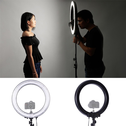 Photo Video Ring Make Up and Selfie Flash Light Kit with Tripod & Remote Control