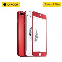 JOYROOM 3D Full Protection Tempered Glass Screen Protector For IPhone 7 Plus - RED