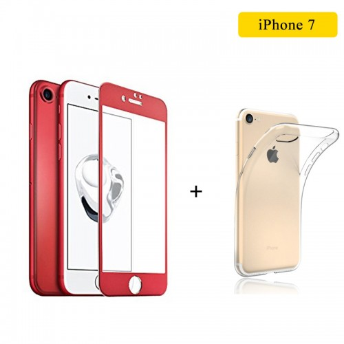 JOYROOM Red 3D Tempered Glass and TPU Ca...