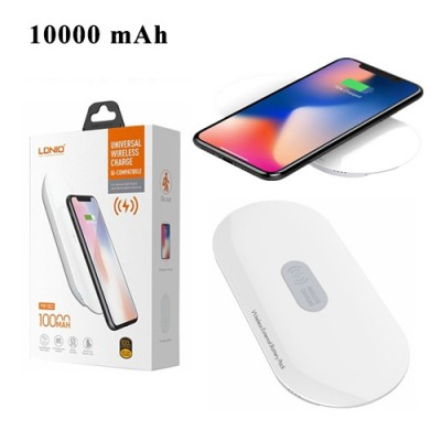 LDNIO 10000 mAh Wireless Power Bank For iPhone XS Max , iPhone X , Note 9 , Note 8