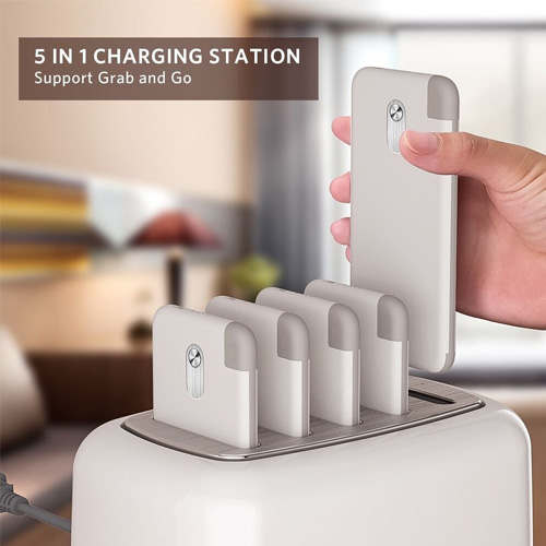 Yoobao Wireless Charging Station Power Bank Dock Includes 5 x 10000 mAh