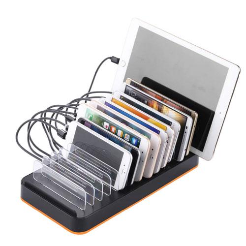 Smart 15-Port USB Charging Station Dock  Universal USB Organizer For Smart Phones & Tablets