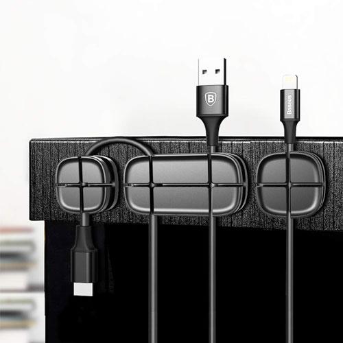 BASEUS Silicone Charging Cable Organizer - Black