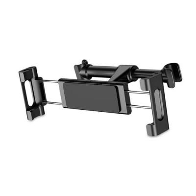 """Baseus Adjustable Headrest Mount Backseat Car Mobile Holder 360 Rotation for (4.7"""" to 12.9"""") Mobile & Tablets - Black"""