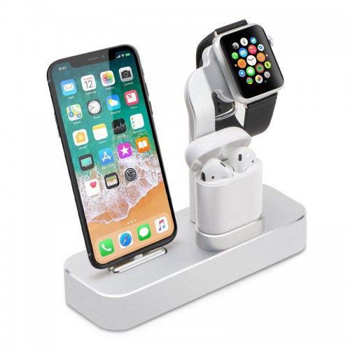 COTEetCI 3 in 1 Aluminum Charging Dock F...