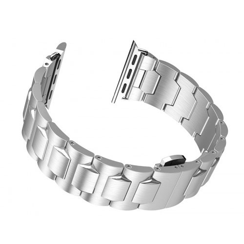 HOCO Stainless Steel Butterfly Buckle Apple Watchband for 42 MM / 44 MM - SIlver