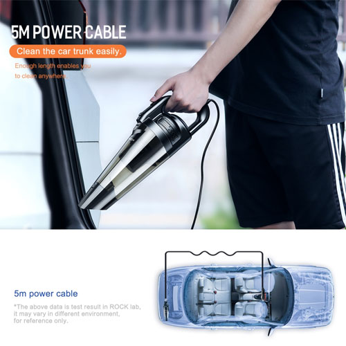 ROCK Portable Wired Car Vacuum Cleaner