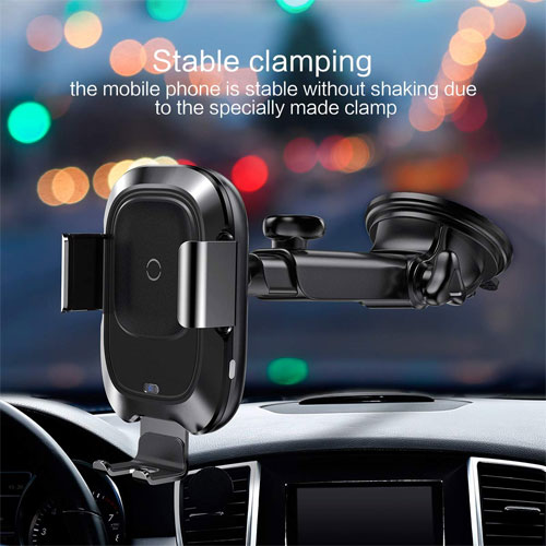 Baseus Wireless Car Charger Mount, 10w Automatic Infrared Qi Fast Charger