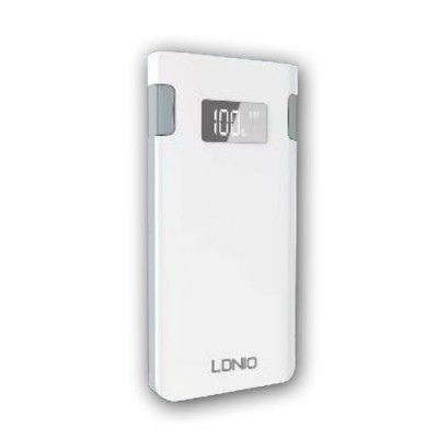 LDNIO 10000 mAh Portable Power Bank with Lightning & Micro USB Cable