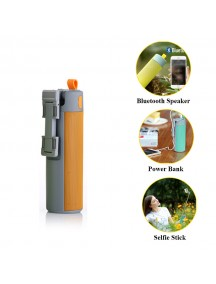 WOPOW Bluetooth Speaker with Selfie Stick & Power Bank - Orange