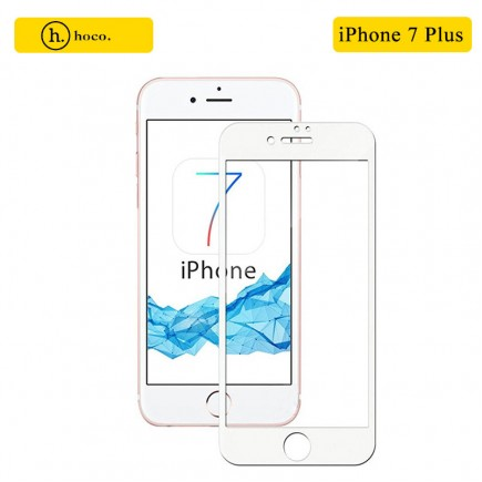 HOCO 3D Full Protection Tempered Glass Screen Protector for iPhone 7 Plus - White