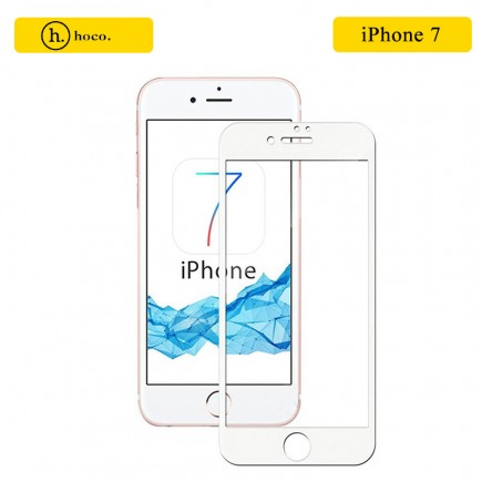 HOCO 3D Full Protection Tempered Glass Screen Protector for iPhone 7 - White