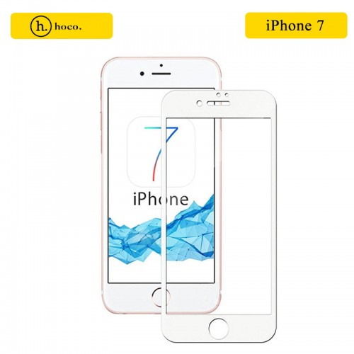 HOCO 3D Full Protection Tempered Glass Screen Protector for iPhone 7 / 8 - White