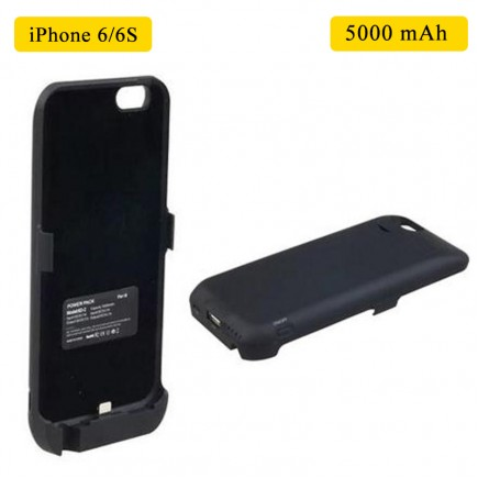 Smart Battery Case 5000 mAh For iPhone 6/6S - Black