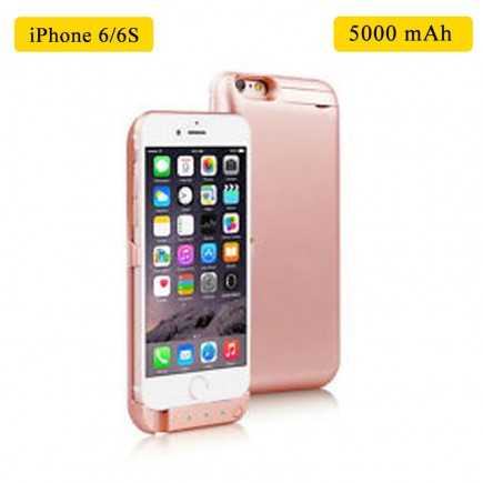 Smart Battery Case 5000 mAh For iPhone 6/6S - Rose Gold