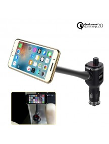 Bluetooth Car Magnetic Phone Holder with Qualcomm 2.0 2 USB Car Charger & FM Bluetooth Handfree