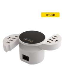 Doolike 10 USB Ports Power Adapter for All Smart Phones & Tablets