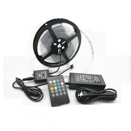 Roll Reel RGB Waterproof LED Strip Light + 24 key IR Remote