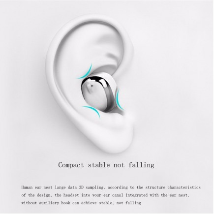 MIFO Ghost Micro Water Proof Bluetooth Headset with Power Bank Charging Device