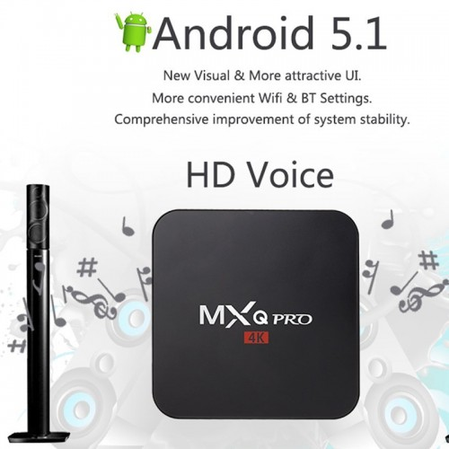 MXQ Pro 4K Android TV Box 1GB RAM and 8GB HDD