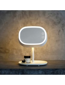 Rechargeable LED Makeup Mirror Lamp for Women with LED Lamp, Night light & Storage