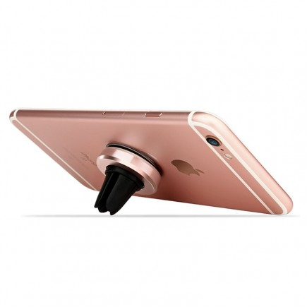 MEEPHONG Magnetic Wind Frame For Mobile Phone Holder - Rose Gold