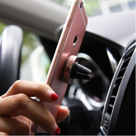 MEEPHONG Magnetic Wind Frame For Mobile Phone Holder - Gold