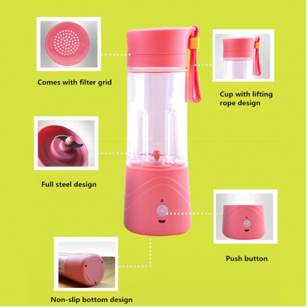 Portable MINI Juicer Blender For All types Of Fruits - Blue