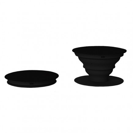 PopSockets Phone Stand with Grip - Black