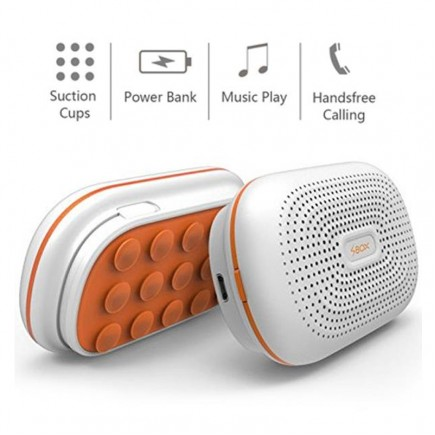 SBox B850  Speaker with Handsfree and Power Bank 3000mAh - White