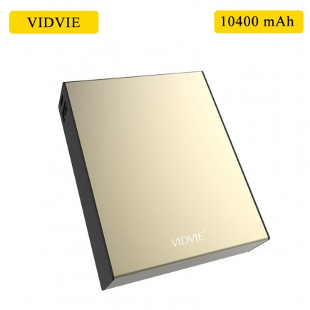 VIDVIE 10400 mAh Power Bank For Smart Phones & Tablets - Gold