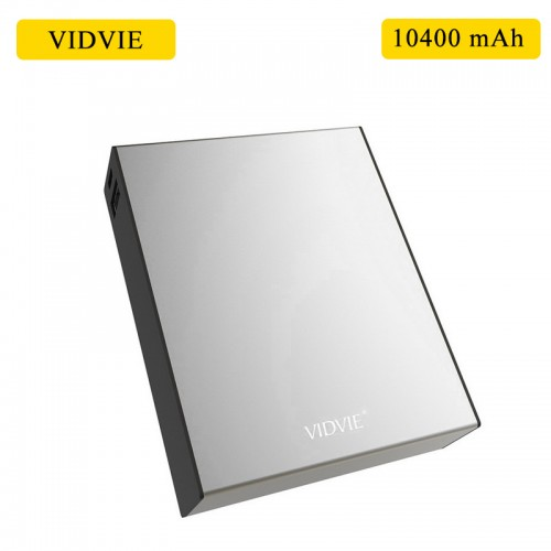 VIDVIE 10400 mAh Power Bank For Smart Phones & Tablets - Silver