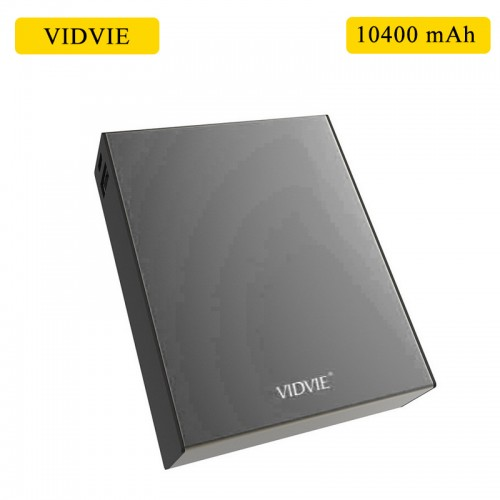 VIDVIE 10400 mAh Power Bank For Smart Phones & Tablets - Black