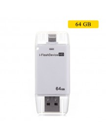 i-Flash Drive Mobile Storage Device For IOS Devices - 64 GB